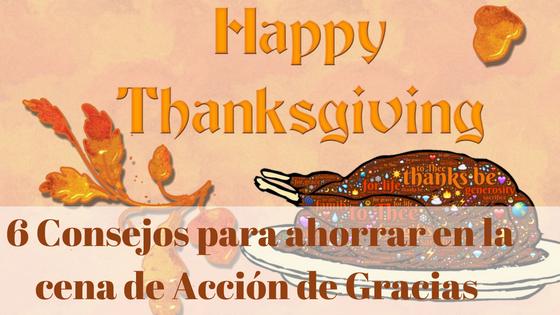 Cena de acción de gracias o thanksgiving